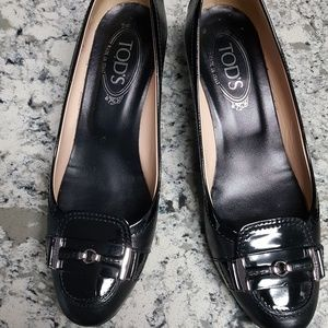 Tod's black leather pumps size 39